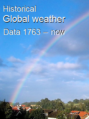 Historical Global Weather Data, 1763-now