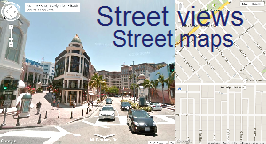 Street views and street maps