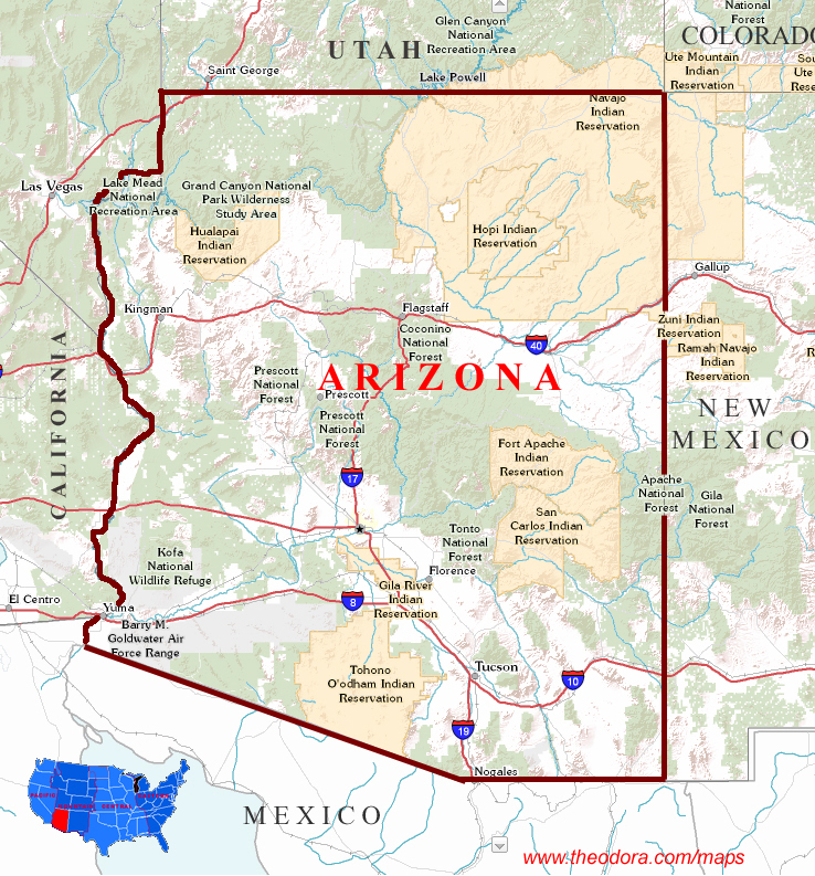 Arizona Printable State Maps Pictures To Pin On Pinterest