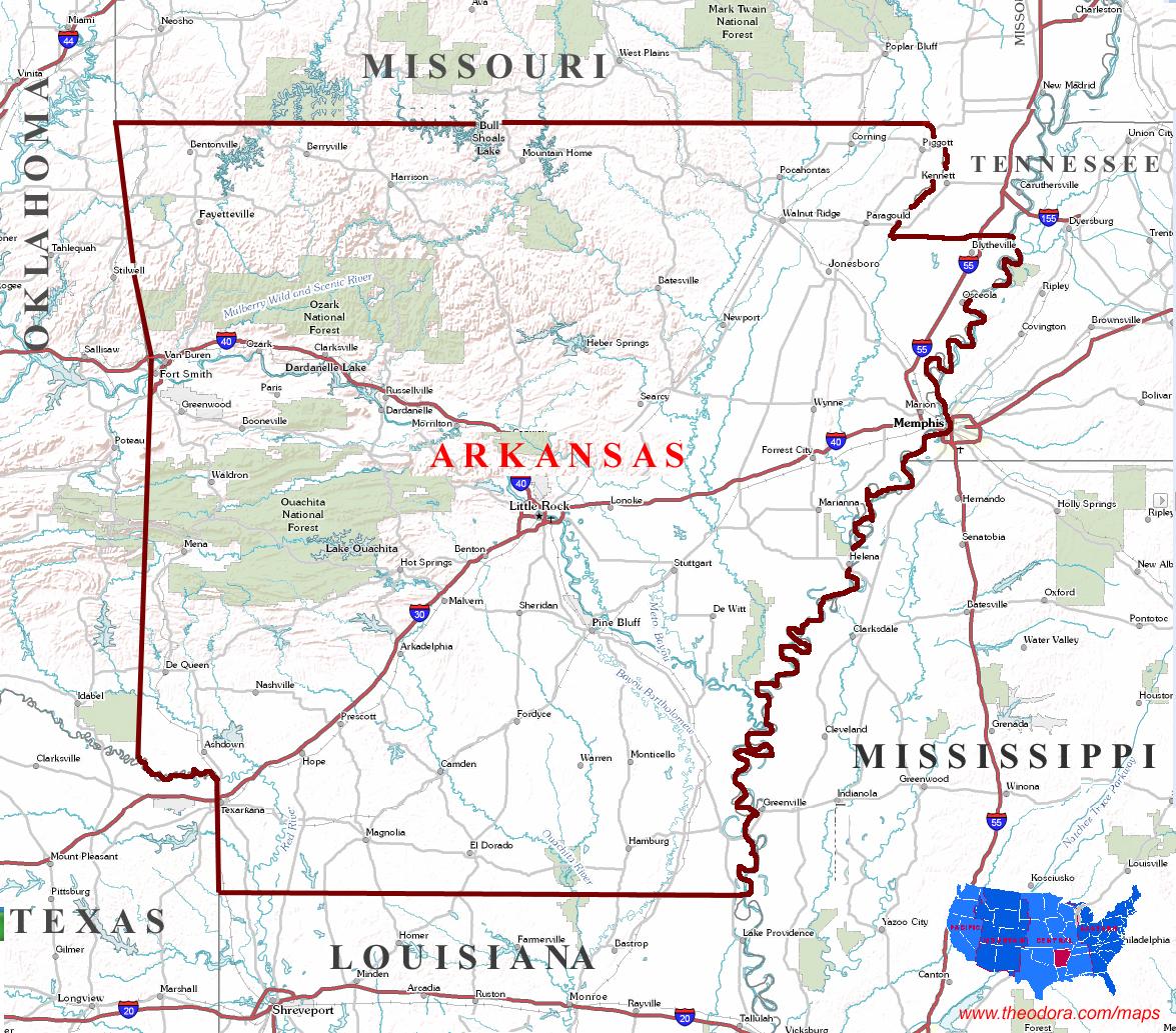 Arkansas Maps
