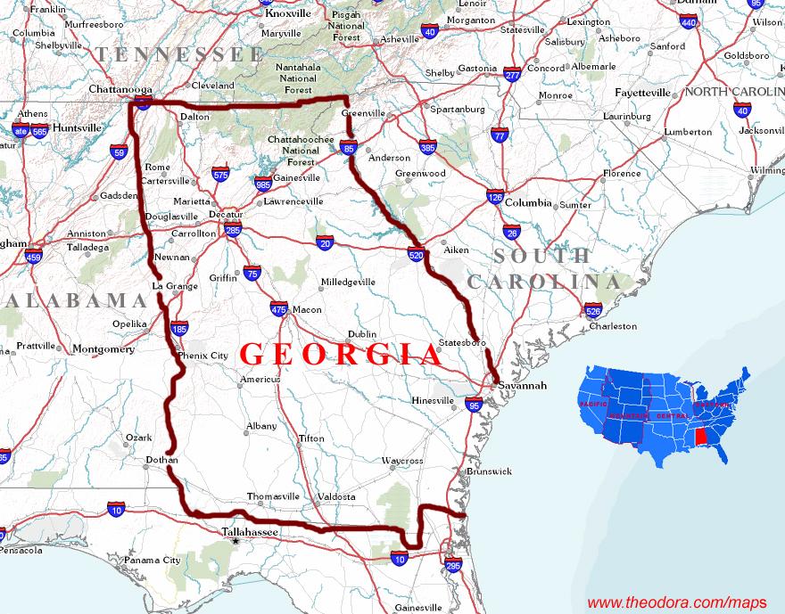 Georgia Maps - Georgia us state map