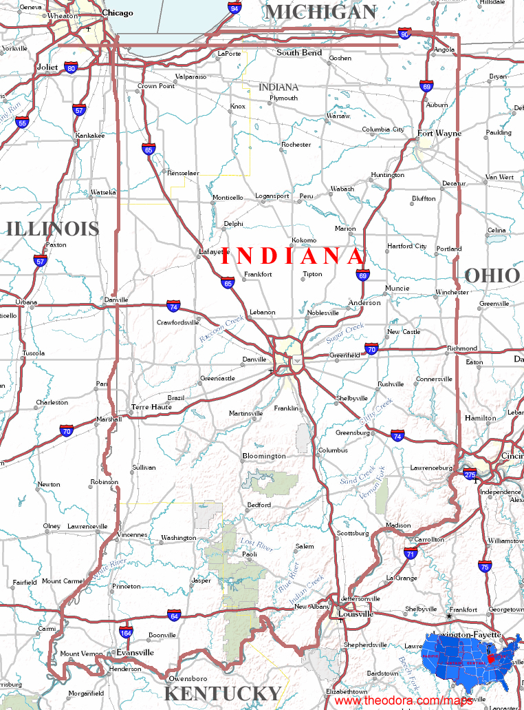 Indiana State Map  Video Search Engine At Search