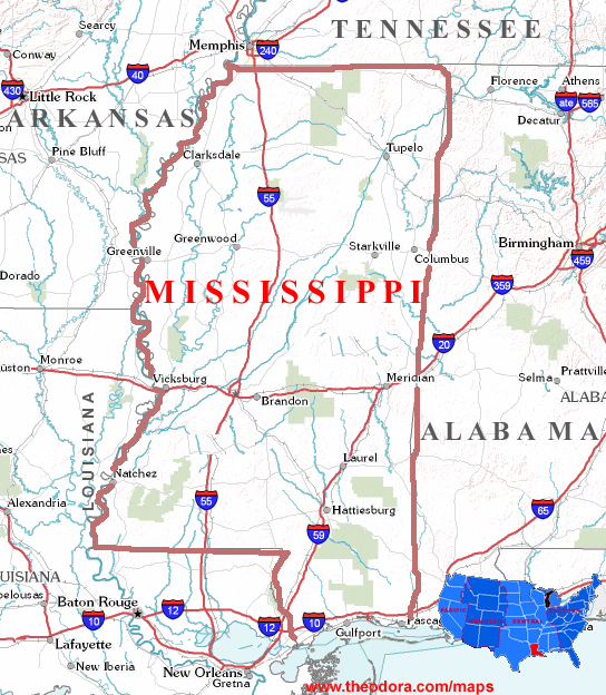 Mississippi Maps - Mississippi maps