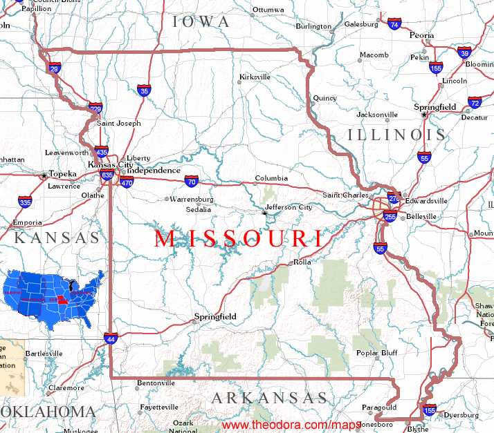 Missouri On Us Map Related Keywords Amp Suggestions