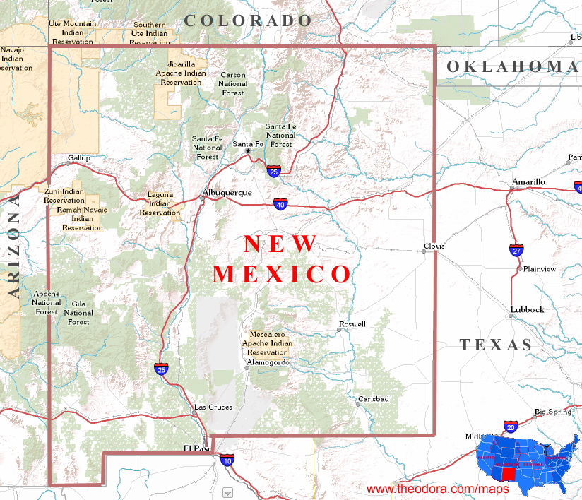 New Mexico State Map Related Keywords Amp Suggestions  New
