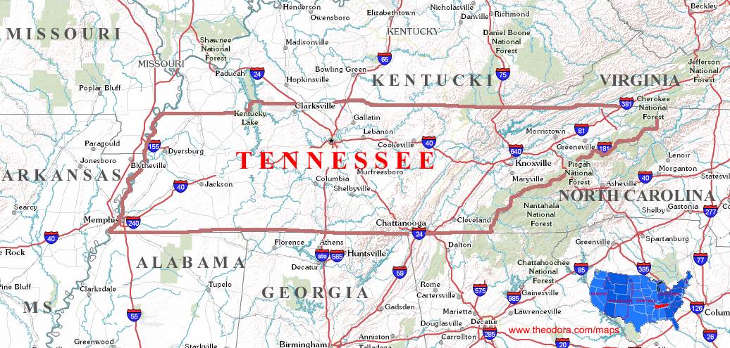 Tennessee Maps - Tn maps