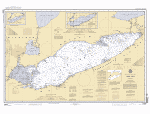 Lake Erie Depth Map LAKE ERIE nautical chart   ΝΟΑΑ Charts   maps