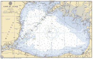 lake st clair map chart Lake St Clair 36 Nautical Chart Noaa Charts Maps lake st clair map chart