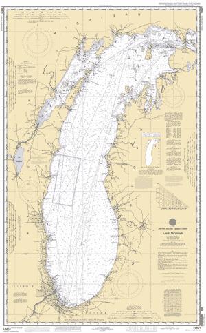 LAKE MICHIGAN Nautical Chart ΝΟΑΑ Charts Maps - Lake michigan map