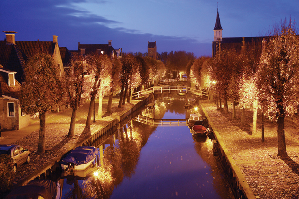 Canal in Sloten Friesland Netherlands Photo