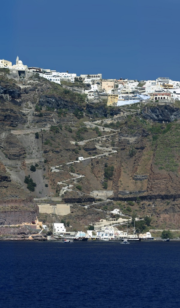 Thira Santorini Volcano Greece Volcano Photo